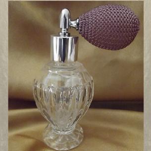 Vaporisateur de parfum poire courte modèle boule sur pied 50 ml Poire rétro courte - Au pays des senteurs