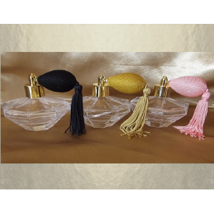 Vaporisateur de parfum poire courte pompon modèle diamant poire 100 ml vide et rechargeable Poire rétro courte - Au pays des ...