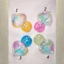 Vaporisateur de parfum cœur  vide et rechargeable de sac ou de collection multi couleur 15 ml