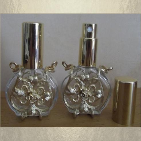 Vaporisateur de parfum vide et rechargeable 15 ml modèle verre métal Atomiseur classique  - Au pays des senteurs