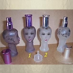 Vaporisateur de parfum vide et rechargeable de sac ou de collection modèle visage 22 ml Vaporisateurs de parfum