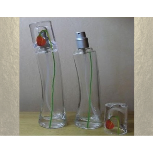Vaporisateur de parfum en verre 30 ml vide et rechargeable modèle fleur Atomiseur classique  - Au pays des senteurs