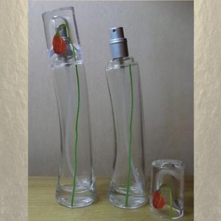 Vaporisateur de parfum en verre 30 ml vide et rechargeable modèle fleur