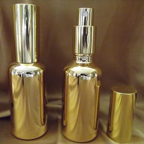 Vaporisateur de parfum or vide et rechargeable en verre effet miroir Atomiseur classique  - Au pays des senteurs