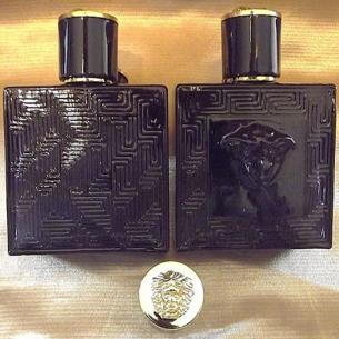 Vaporisateur de parfum en verre noir visage soleil 60 ml vide et rechargeable Vaporisateurs de parfum
