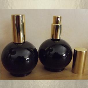 Vaporisateur de parfum en verre noir boule 100 ml vide et rechargeable Vaporisateurs de parfum - Au pays des senteurs