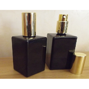 Vaporisateur de parfum en verre noir rectangle 100 ml vide et rechargeable Vaporisateurs de parfum - Au pays des senteurs