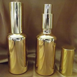 Vaporisateur de parfum verre effet miroir or 100 ml vide et rechargeable Atomiseur classique  - Au pays des senteurs
