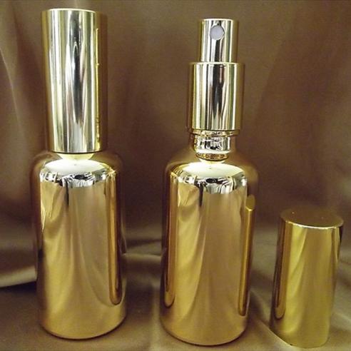 Vaporisateur de parfum verre effet miroir or 100 ml vide et rechargeable Atomiseur classique