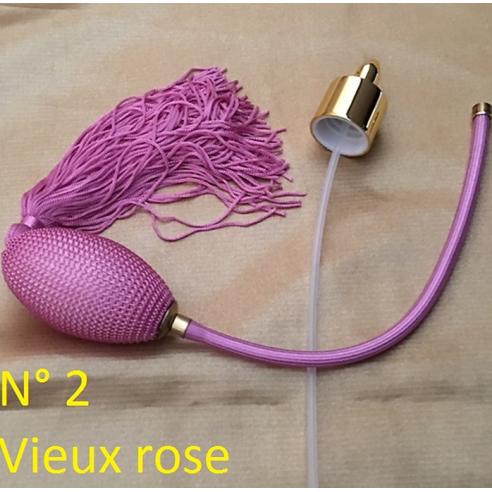Poires de rechange pour vaporisateurs de parfum + atomiseur de parfum couleur vieux rose