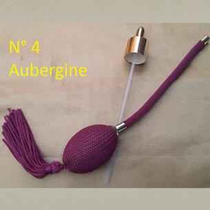 Poires de rechange pour vaporisateurs de parfum + atomiseur de parfum couleur aubergine