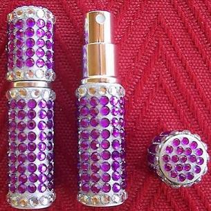 Vaporisateur de parfum de sac strass 6 ml parme vide et rechargeable Strass