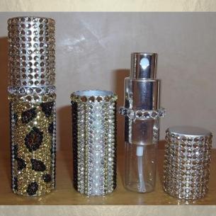 Vaporisateur de parfum de sac strass léopard 8 ml vide et rechargeable Strass - Au pays des senteurs