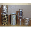 Vaporisateur de parfum de sac strass léopard 8 ml vide et rechargeable