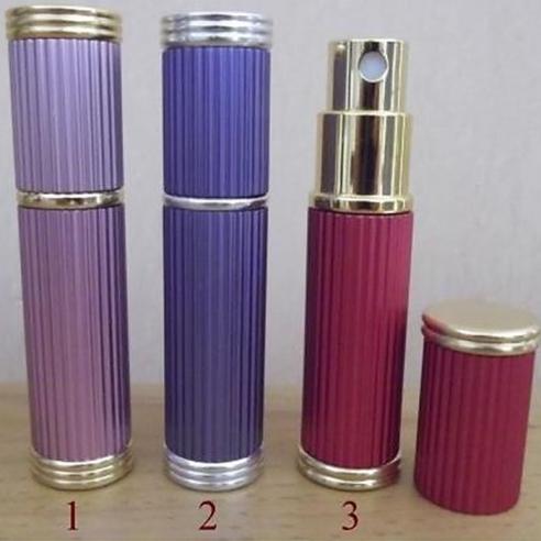 Vaporisateur de parfum de sac 5 ml en métal rayé vide et rechargeable Vaporisateurs de parfum