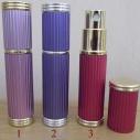 Vaporisateur de parfum de sac 5 ml en métal rayé vide et rechargeable