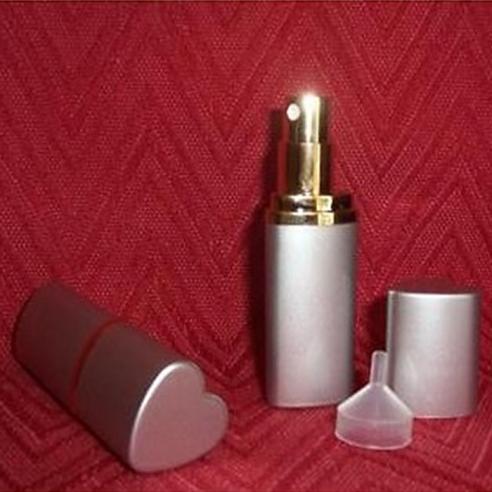 Vaporisateur de parfum de sac 6 ml en métal cœur argent vide et rechargeable Vaporisateurs de parfum - Au pays des senteurs