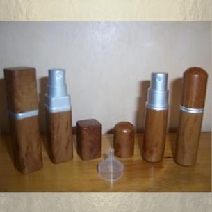 Vaporisateur de parfum de sac effet bois 6 ml vide et rechargeable Vaporisateurs de parfum - Au pays des senteurs