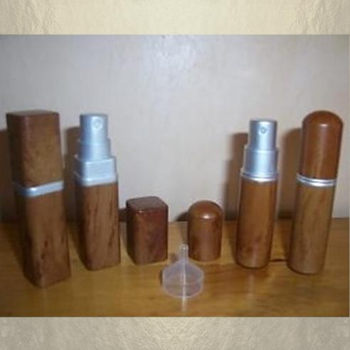 Vaporisateur de parfum de sac effet bois 6 ml vide et rechargeable Vaporisateurs de parfum