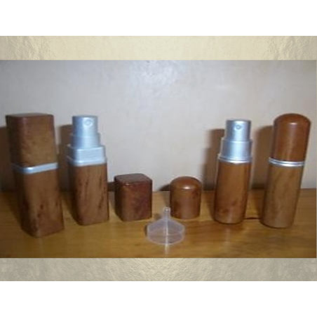 Vaporisateur de parfum de sac effet bois 6 ml vide et rechargeable