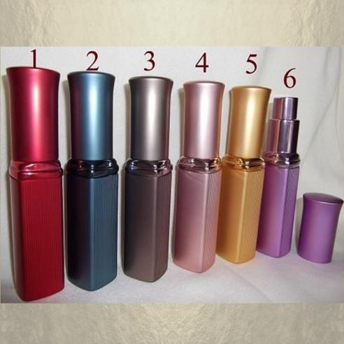 Vaporisateur de parfum de sac 6 ml en métal rayé vide et rechargeable Vaporisateurs de parfum