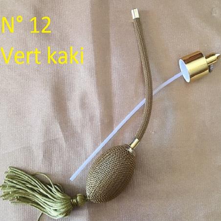 Poires de rechange pour vaporisateurs de parfum + atomiseur de parfum couleur vert Kaki