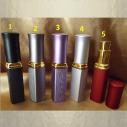 Vaporisateur de parfum de sac 6 ml en métal rayé liseré or vide et rechargeable