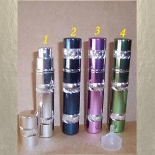 Vaporisateur de parfum de sac 8 ml en métal spirale vide et rechargeable Vaporisateurs de parfum - Au pays des senteurs