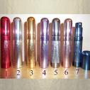 Vaporisateur de parfum de sac 8 ml en métal brossé vide et rechargeable