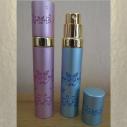 Vaporisateur de parfum de sac 8 ml en métal frise papillon vide et rechargeable