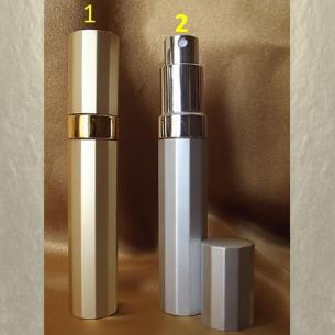 Vaporisateur de parfum de sac 9 ml en métal facette vide et rechargeable De sac - de poche - Au pays des senteurs