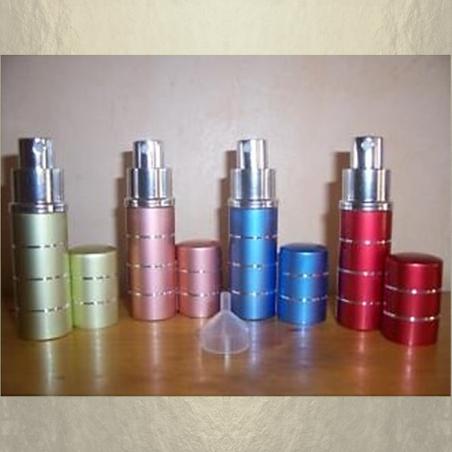 Vaporisateur de parfum de sac 10 ml en métal vide et rechargeable