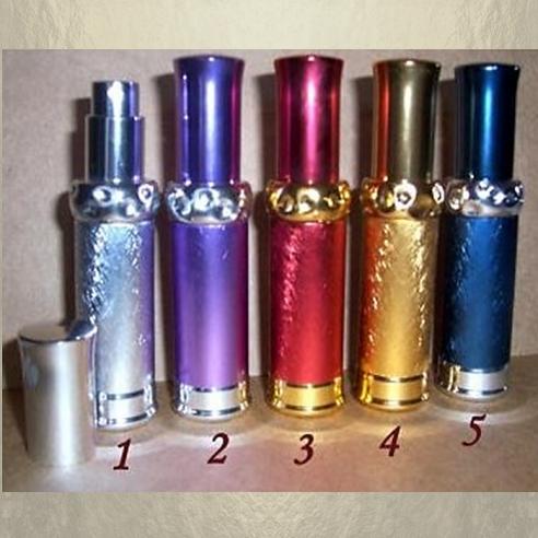 Vaporisateur de parfum de sac 15 ml en métal martelé vide et rechargeable vide et rechargeable De sac - de poche - Au pays de...