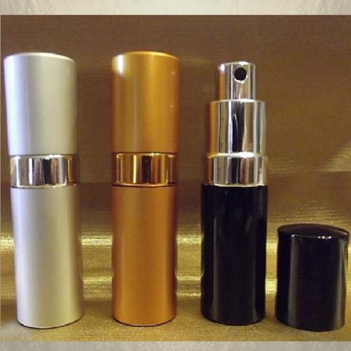Vaporisateur de parfum en métal , couleur argent, or, noir 17 ml vide et rechargeable Vaporisateurs de parfum