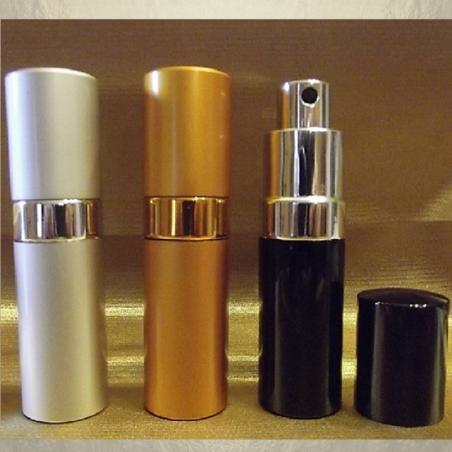 Vaporisateur de parfum en métal , couleur argent, or, noir 17 ml vide et rechargeable