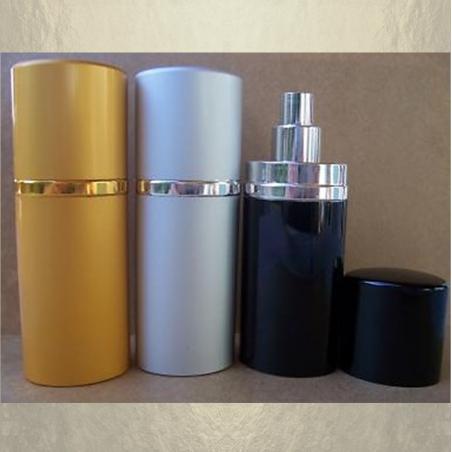Vaporisateur de parfum en métal , couleur or, argent, noir 30 ml vide et rechargeable