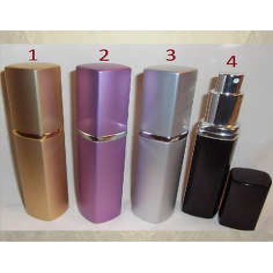 Vaporisateur de parfum en métal 32 ml rectangle vide et rechargeable Vaporisateurs de parfum - Au pays des senteurs