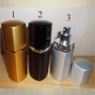 Vaporisateur de parfum en métal , couleur or, noir, argent 50 ml vide et rechargeable Vaporisateurs de parfum