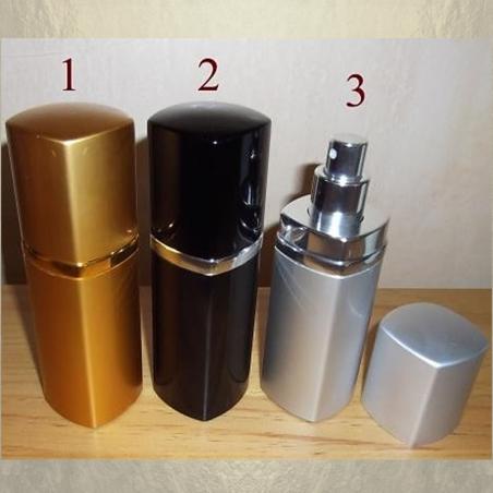 Vaporisateur de parfum en métal , couleur or, noir, argent 50 ml vide et rechargeable