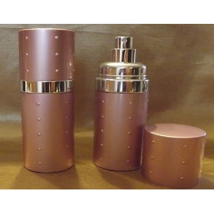 Vaporisateur de parfum 50 ml en métal couleur rose poudré vide et rechargeable Vaporisateurs de parfum - Au pays des senteurs