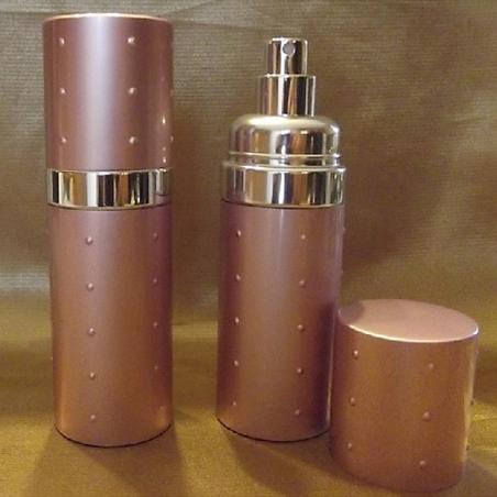 Vaporisateur de parfum  50 ml en métal couleur rose poudré vide et rechargeable