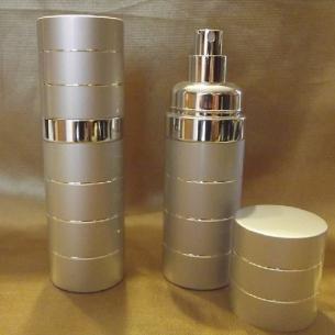 Vaporisateur de parfum 50 ml en métal couleur argent vide et rechargeable Vaporisateurs de parfum - Au pays des senteurs