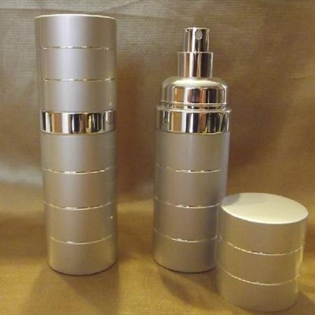 Vaporisateur de parfum  50 ml en métal couleur argent vide et rechargeable
