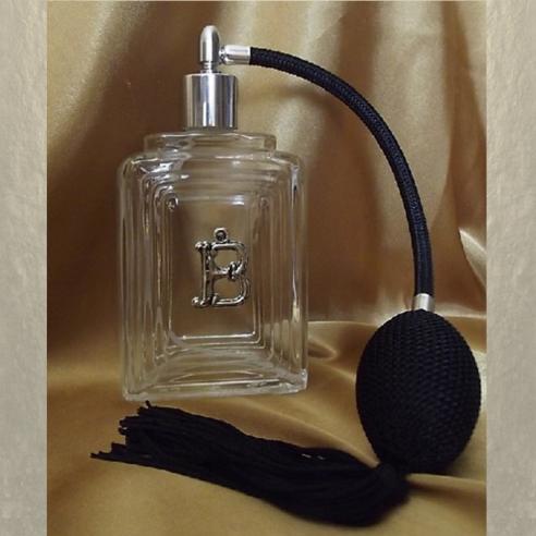 Vaporisateur de parfum initiale Cristal de SWAROVSKI décoration artisanale en verre vide et rechargeable  - 1