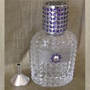 Vaporisateur de parfum CRISTAL DE SWAROVSKI HELIOTROPE artisanal 50 ml argent dans coffret cadeau Vaporisateurs de parfum - A...