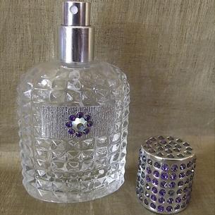 Vaporisateur de parfum CRISTAL DE SWAROVSKI HELIOTROPE artisanal 50 ml argent dans coffret cadeau Vaporisateurs de parfum