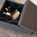 Vaporisateur de parfum poire grise antique boule sur pied coque effet miroir argent 125 ml artisanal