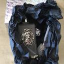 Vaporisateur de parfum poire sur pied argent CRISTAL DE SWAROVSKI camé rectangle givré 100ml