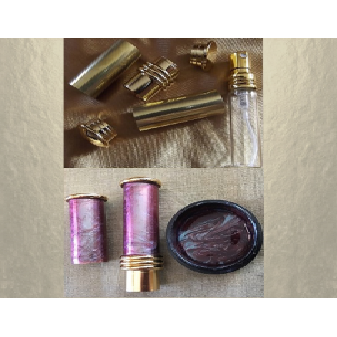 Vaporisateur de parfum plaqué or artisanal CRISTAL DE SWAROVSKI RAINBOW DARK peinture caméléon Plaqué or, chrome