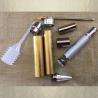 Stylo bille vaporisateur de parfum duo chrome CRISTAL DE SWAROVSKI FIRE OPAL AB fabrication artisanale